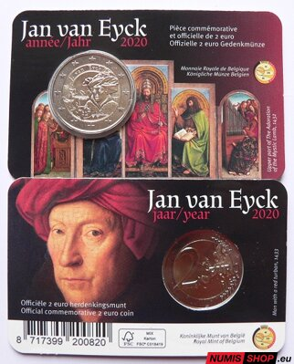 Belgicko 2 euro 2020 - Jan van Eyck - COIN CARD