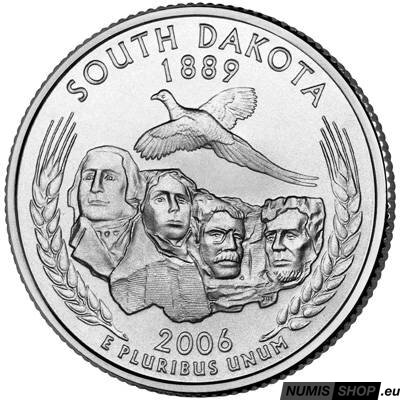 USA Quarter 2006 - South Dakota - D - UNC