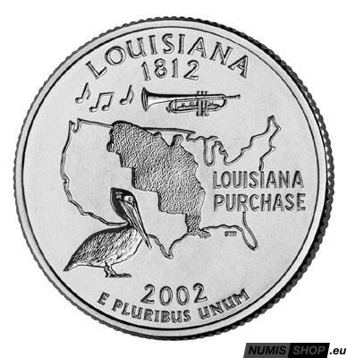 USA Quarter 2002 - Louisiana - D - UNC
