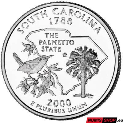 USA Quarter 2000 - South Carolina - D - UNC