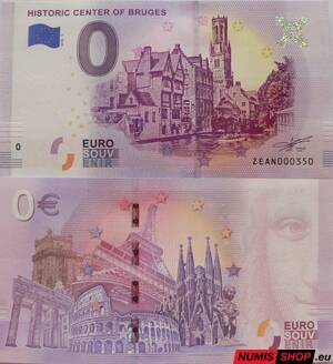 Belgicko - 0 euro souvenir - Historic center of Bruges