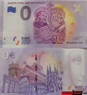 Bulharsko - 0 euro souvenir - Cyril a Metod - Saints Cyril and Methodius