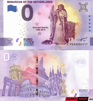 Holandsko - 0 euro souvenir - Monarchs of the Netherlads - Beatrix