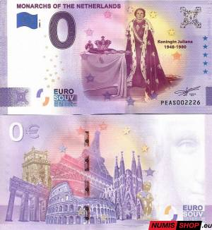 Holandsko - 0 euro souvenir - Monarchs of the Netherlads - Juliana