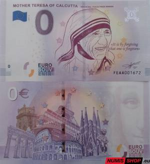Malta - 0 euro souvenir - Mother Teresa of Calcutta