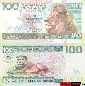Knotek - 100 sovereign - World Bank of Wildlife