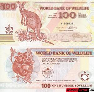 Knotek - 100 sovereign - World Bank of Wildlife - Sberatel 2020