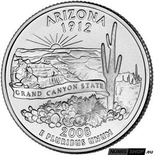 USA Quarter 2008 - Arizona - D - UNC