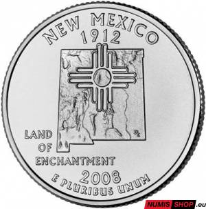 USA Quarter 2008 - New Mexico - D - UNC